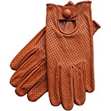 Riparo Motorsports Men's Genuine Leather Mesh Perforated Summer Driving Motorcycle Gloves