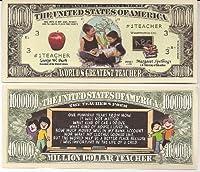 World's Greatest Teacher $Million Dollar$ Novelty Bill Collectible [並行輸入品]