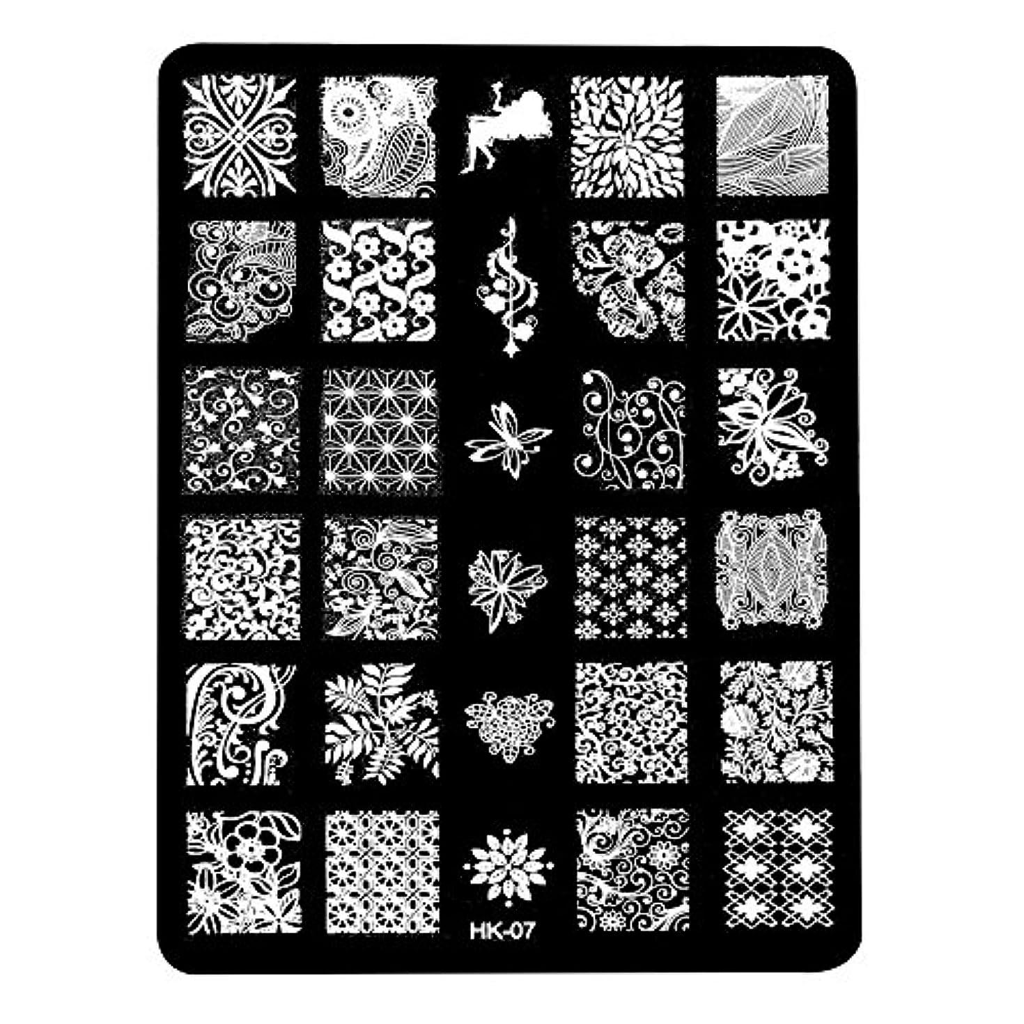 放棄されたスリム宿る[ルテンズ] スタンピングプレートセット 花柄 ネイルプレート ネイルアートツール ネイルプレート ネイルスタンパー ネイルスタンプ スタンプネイル ネイルデザイン用品