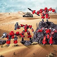 ブロック 戦闘ロボット積み木おもちゃ 闘士小隊4点セット 組み立てファン diy趣味 348pcs