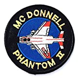 アメリカ空軍 ミリタリーワッペン USAF PHANTOMⅡフルカラー ラウンド