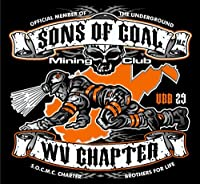 "3 – West Virginia・マイニングハード帽子ステッカーby Earl Ferguson "" Sons of Coal "" h581"