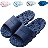 Finleoo Shower Sandal Slippers with Drainage Holes Quick Drying Bathroom Slippers Gym Slippers Soft Sole Open Toe House Slipp