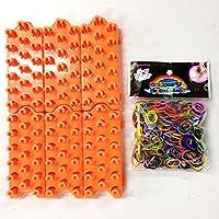 ルームバンド 連結式編み機(編み台 オレンジ)6個+ルームバンド600個