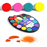 TBC The Best Crafts 12 Colours Watercolour Cake, Watercolour Paint Palette with Paint Brush, Educatioanl Art Supplies for Sch