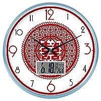 Lts ウォールクロックnティック番号クォーツウォールクロックリビングルーム装飾ドアクロックベッドルームクロックキッチンクロックサイレントテーブルクォーツ時計 (Color : Blue - 210, サイズ : 14 In.)