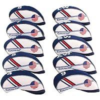 CRAFTSMAN(クラフトマン)ゴルフアイアンカバー アメリカフラグ 10枚入り ブルー