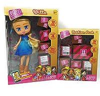 人形 キッズ 小さな幼児 女の子 遊び 屋内 プレイタイム ボクシー 女の子 ウィラ ファッション パック おまけのキューティー OWL リップグロス