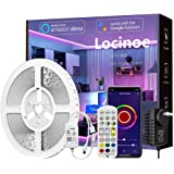 Smart LED Light Strip 32ft - Locinoe 10m WiFi LED Light Strip Compatible with Alexa,Google Home Controlled by Smart APP - Mus