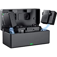 Hollyland Lark 150 ワイヤレスマイクシステム スマホ外付けマイク 内蔵/外部全方向マイク付属 収納充電…