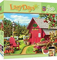 MasterPieces Lazy Days Monarch Orchard - Red Barn 750 Piece Jigsaw Puzzle by Alan Giana [並行輸入品]