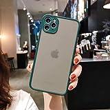MAXLEAF iPhone11 12 IPhone 12 Mini iPhone11 12Pro Max半透明ケース 緑 黒男女兼用 (iPhone11Pro, 濃い緑色)