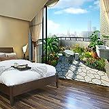 Sproud 洗練されたバルコニーの景色 3D Wallpaperliving ルームのソファの背景の壁の壁紙のロマンチックなベッドルームのベッドサイド・モニタの 3 D ウォールペーパー 430 Cmx 300 Cm