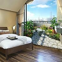 Sproud 洗練されたバルコニーの景色 3D Wallpaperliving ルームのソファの背景の壁の壁紙のロマンチックなベッドルームのベッドサイド・モニタの 3 D ウォールペーパー 200 Cmx 140 Cm