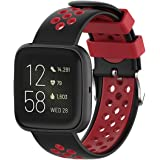T Tersely Sport Band Strap for Fitbit Versa 2/ Versa/Versa Lite, Breathable Soft TPU Silicone Ventilate Replacement Bands Fit