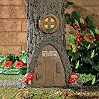 Garden Gnome Home Door in a Tree Art Pieces Outdoor Yard Decor [並行輸入品]