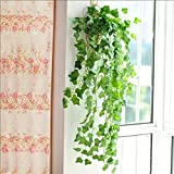 人工観葉植物 アイビー 壁掛け インテリア 飾り 2.4メートル , 3本