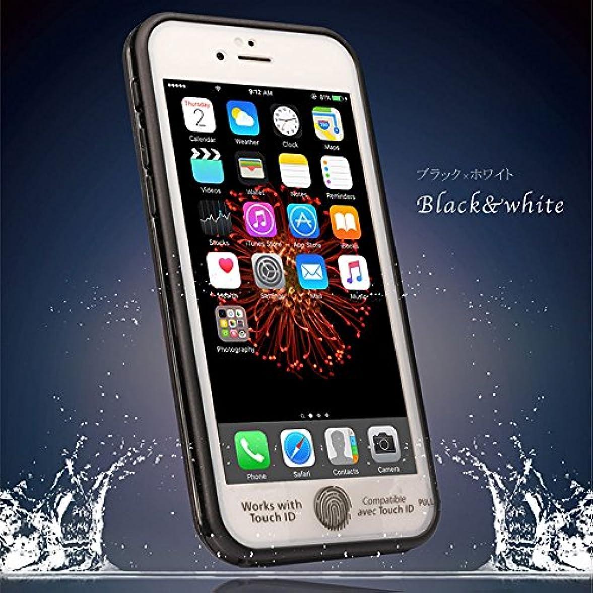 差別的受け入れるほとんどの場合【JABIT】iPhone6 Plus/6s Plus 極薄防水iPhoneカバー 全8色対応人気ケース カバー アイフォン ブラック×ホワイト