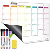 Dry Erase Calendar Kit- Magnetic Calendar for Refrigerator - Monthly Fridge Calendar Whiteboard with Extra-Thick Magnet Inclu