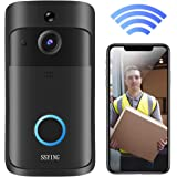 Video Doorbell Camera HD WiFi Doorbell Wireless Operated Motion Detector Audio&Speaker Night Vision for iOS&Android