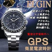 エルジン ELGIN GPS衛星電波時計 クオーツ メンズ 腕時計 GPS2000S-B ブラック