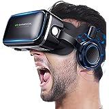 VR ゴーグル VRヘッドセット Betidom VRゴーグル 3D ゲーム 映画 動画 VR グラス メガネ 4.0~6.5インチ iPhone Android スマホ VRヘッドマウントディスプレ ヘッドホン一体型