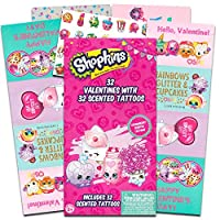 Shopkins Valentine Cards–32カードwith 32Tattoos
