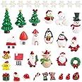 LovesTown Christmas Miniature Ornaments,22Pcs Fairy Garden Supplies Lovely Miniature Ornaments Fairy Garden Accessories Small