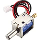 uxcell® DC 12V 0.43A 4mm Mini Electromagnetic Solenoid Lock Push Pull Type for Electirc Door Lock