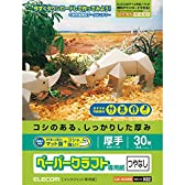 エレコム クラフト紙 ペーパークラフト用紙 マット調 30枚 【日本製】 A4サイズ EJK-HC2WN