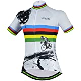 Womens Cycling Jersey Aogda Short Sleeve 3D Silicon Padded Girls Bicycle Shorts Outdoor Sport Bike Cycle Clothing/Shirt D914