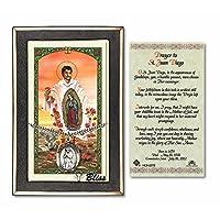 ピューター聖Juan Diegoの24インチ縁石チェーンwith a prayer to St Anthony Prayerカード