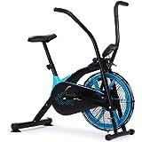 PROFLEX AF1 Air Fan Resistance Exercise Fitness Bike with Pulse Sensors, Black and Blue