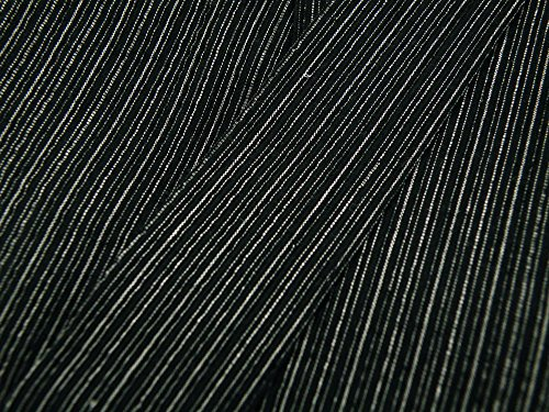 [さらさ]綿麻混 メンズ しじら織り 甚平 M~3Lサイズ 対応身長160~185cm js-8 (LLサイズ, 黒縞)