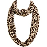 Premium Leopard Animal Print Infinity Loop Scarf - Different Colors Available