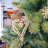 Kimmerle(キマール社) クリスマス クリスマス ストローオーナメント Wハート【193-09】
