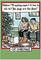 猫クリスマスChristmas Funny Paperカード 1 Christmas Card & Envelope (SKU:1888)