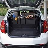 車用収納バッグ 車トランク 収納 Siivton シートバックポケット 高品質 大容量 後部座席用 ラゲッジルームバッグ 省スペース設計 取付簡単(黒) トラック/バン/SUV/軽自動車にも適応