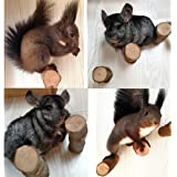 QBLEEV Hamster Chew Toys for Teeth, Wood Chew Sticks Stands Perches for Squirrels Rabbits, Cage Supplies Platform Stands for