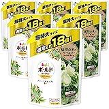 【ケース販売】ボールド 洗濯洗剤 液体 グリーンボタニアの香り 詰め替え 超特大 1120gx6個