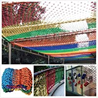 カラー防護網 屋外児童保護ネット、 安全網、 ロープネット バルコニー 大 階段の落下防止 クライミング 幼稚園 ペット保護 カスタマイズ可能 庭の装飾 フェンス スイング 安全防護網 (Color : Colorful, Size : 2*4M)
