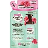 ロート製薬 ケアセラ  天然型セラミド7種配合 セラミド濃度10倍泡の高保湿 全身ボディウォッシュ フルーティローズの香り 詰替用 350mL