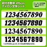 背番号・胸番号用足つきナンバーワッペン(25cm) ※0~9まで1文字単位でお申込み頂けます