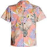 【Palmwave】 アロハシャツメンズ 半袖シャツ ハイビスカス柄 ハワイアンシャツ 総柄シャツ 綿素材 大きいサイズ…