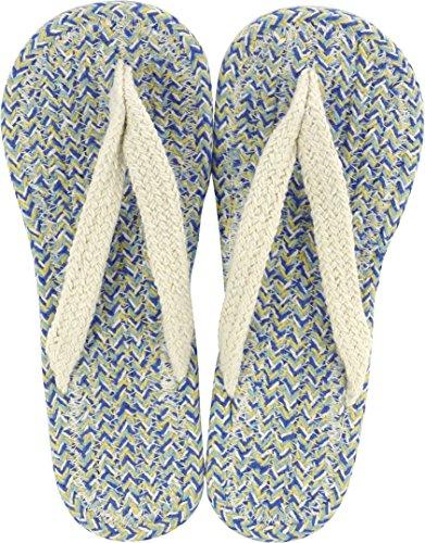 現代百貨 コットンサンダル ルポ ブルー レディース フリーサイズ 約 23~25cm BLUE 7406-06
