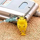 ペットラバーズ カエル Frog つれてカエル ビーズストラップ yellow N-7004