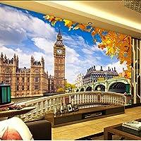 Lcymt カスタム壁画壁紙ロンドンビッグベンビル風景3Dリビングルームのソファテレビの背景写真壁紙家の装飾絵画-350X250Cm