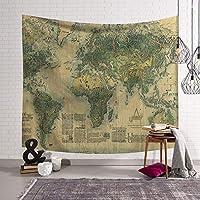 北欧世界地図シリーズレジャータペストリー装飾タペストリーリビングルームの寝室の装飾壁の装飾多機能ホーム150 * 130 Cm (Style : 1)