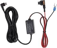 2A降压电缆通用保险丝套装(低背) 车载Mini USB接口德拉力可X1/X2/A1/M6/M8适用 AUTO-VOX 电源直线(约3M) 12V/24V转换为5V/2A用转换器 电压保护 过流保护