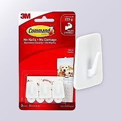 Command Micro Hooks, White, 3-Hooks (17066ES)